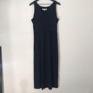LOFT navy blue flowy maxi dress
